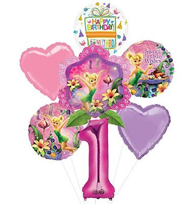 Tinkerbell 1st Birthday (Tinkerbell 1st Birthday Party Supplies and Balloon Bouquet)