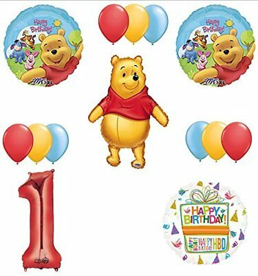 Winnie The Pooh 1st First Birthday Party Supplies and Balloon - Winnie The Pooh Balloons