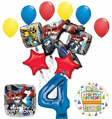 The Ultimate Transformers 4th Birthday Party Supplies and Balloon Decorations](Transformers Party Decorations)