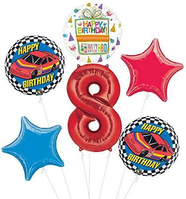 Race Car 8th Birthday Party Supplies Stock Car Balloon Bouquet Decorations](Race Car Birthday Party Supplies)