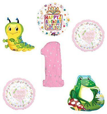 Caterpillar Birthday Party Supplies (Garden Tea Party Dragonfly Caterpillar Frog 1st Birthday Party Supplies )