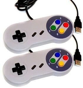 2-x-Retro-Super-Nintendo-SNES-USB-Controller-Jopypads-for-Win-PC-MAC-Gamepads