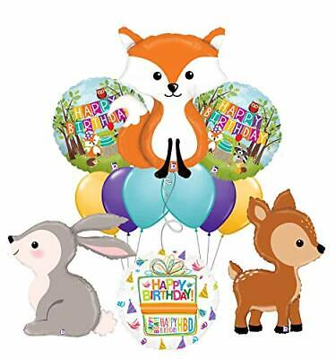 Mayflower Products Woodland Creatures Birthday Party Supplies Fox and - Fox Party Supplies