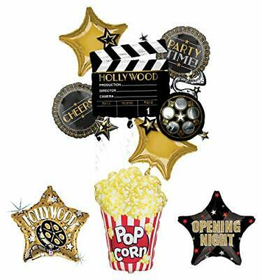 Movie Night Party Supplies Balloon Bouquet Decorations Hollywood Film Clapper... - Balloons Hollywood