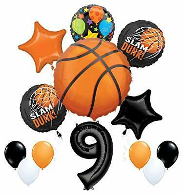 Mayflower Products Basketball 9th Birthday Party Supplies Nothin' But Net  (Basketball Birthday Supplies)