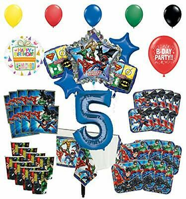 Justice League 5th Birthday Party Supplies 8 Guest Entertainment kit and Supe...](Entertaining Supplies)