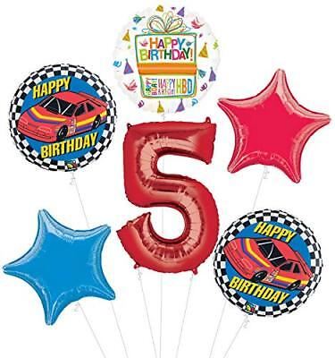 Race Car 5th Birthday Party Supplies Stock Car Balloon Bouquet Decorations](Race Car Birthday Party Supplies)