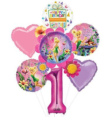 Tinkerbell 1st Birthday Party Supplies Flower Cluster Balloon Bouquet Decoration