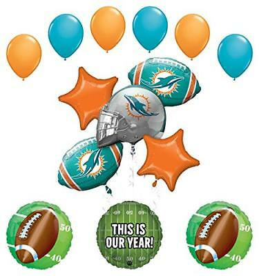 Mayflower Products Miami Dolphins Football Party Supplies  Balloon - Party Supplies Miami
