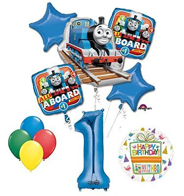 The Ultimate Thomas the Train Engine 1st Birthday Party Supplies   (Thomas The Train Balloons)