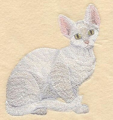 Large Embroidered Zippered Tote - Devon Rex Cat C7919