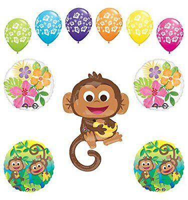 plies Birthday or Baby Shower Boy Monkey Love Jungle  (Monkey Love Party Supplies)