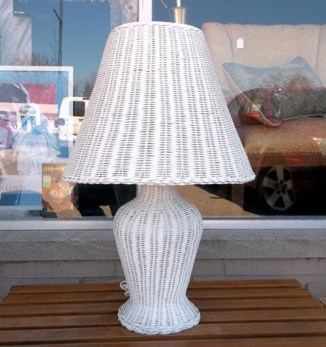 Wicker Table Lamp Ebay