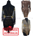 Polyester Beaded Scarves and Wraps for Women