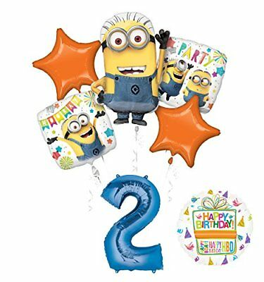Despicable Me Birthday Party Decorations (Despicable Me 3 Minions 2nd Birthday Party Supplies and balloon)