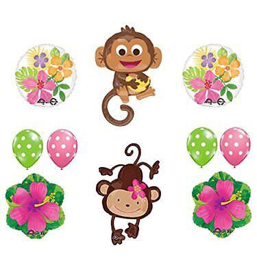plies Birthday or Gender Reveal Monkey Love Balloon (Monkey Party Supplies)