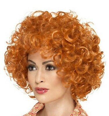 Mens Ladies Ginger Curly Wig Fancy Dress ginger Afro type wig Annie by - Ginger Afro Wig