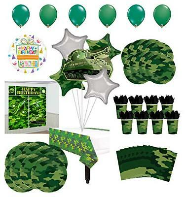 Mayflower Products Army Birthday Party Supplies 8 Guests Balloons