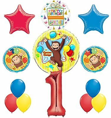 Curious George 1st Birthday Party Supplies Balloon Bouquet Decorations - Curious George Birthday Party Decorations