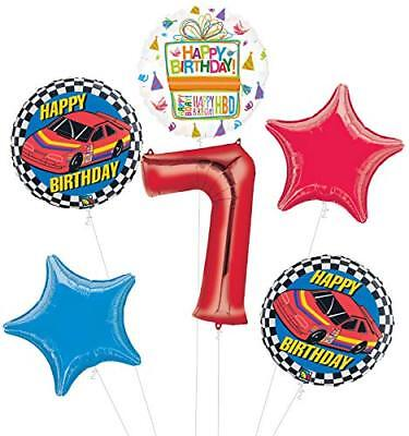 Race Car 7th Birthday Party Supplies Stock Car Balloon Bouquet Decorations](Race Car Birthday Party Supplies)