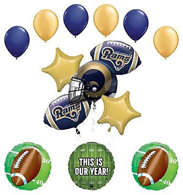 Mayflower Products Los Angeles Rams Football Party Supplies  Balloon ](Party Supplies Los Angeles)