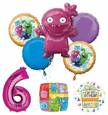 Mayflower Products Ugly Dolls 6th Birthday Party Supplies Balloon Bouquet Decor](Ugly Birthday)