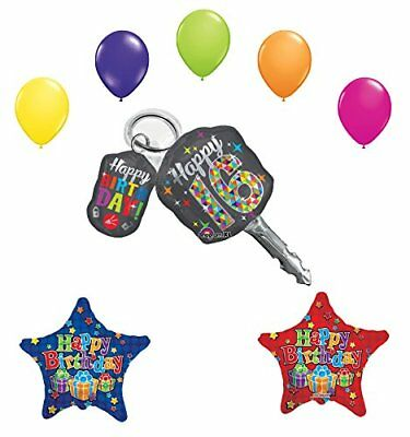 Sweet 16 Birthday Party Supplies Balloon Bouquet Car Keys Decoration