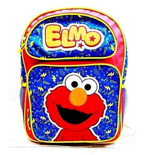 "New Sesame Street Elmo 16"" Large Backpack School Bag"