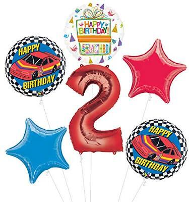 Race Car 2nd Birthday Party Supplies Stock Car Balloon Bouquet Decorations](Race Car Birthday Party Supplies)