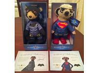 SUPERMAN & BATMAN LIMITED EDITION COMPARE THE MARKET TOY MEERKAT/MEERCAT BNIB £25 FOR BOTH