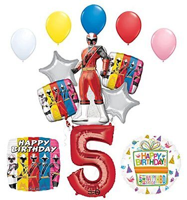 Power Rangers Birthday Party (The Ultimate Power Rangers Ninja Steel 5th Birthday Party Supplies )