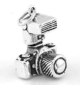 SILVER-SLR-PHOTOGRAPHER-039-S-CAMERA-CHARM-PENDANT