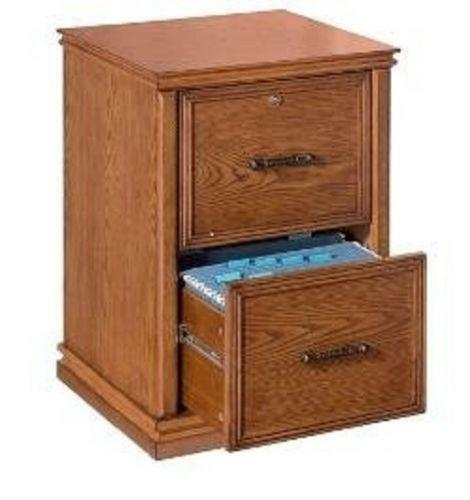 2 Drawer Oak File Cabinet Ebay
