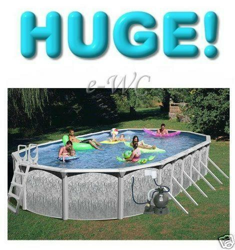 Above Ground Swimming Pool 18x33 Ebay