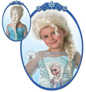 Elsa Snow Queen Wig Girls Disney Princess Frozen Fancy Dress Costume Accessory