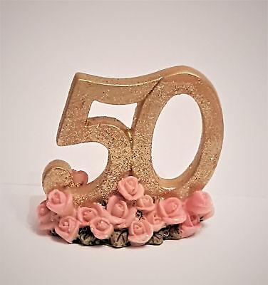 50 Deko Zahl Gold Goldenehochzeit Jubileum Geburtstag Fest Tischdeko Hochzeit