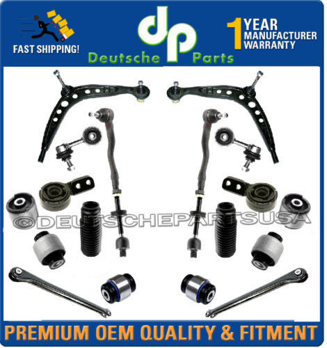 FRONT REAR CONTROL ARM BALL JOINT JOINTS TIE ROD RODS BOOT 18 PC for BMW E36 Z3