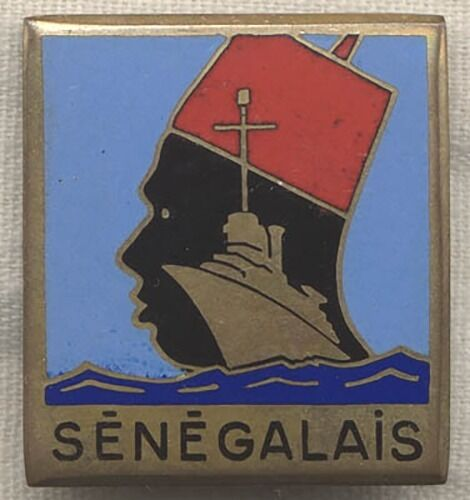 RARE Free-French Destroyer-Escort Senegalais US-Made Ship Badge