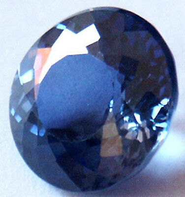 Nice 8 mm Fancy Double Round Brillant  Blue Created Sapphire