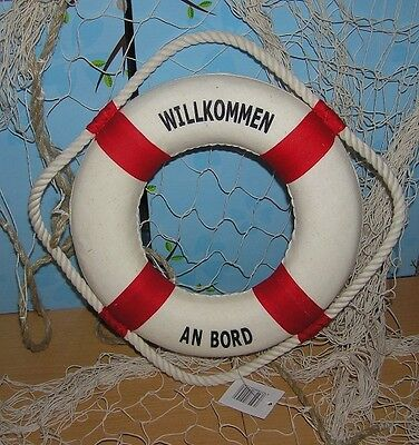 Rettungsring 50 cm antiker Look maritime Deko neu Dekoration fürs Fischernetz