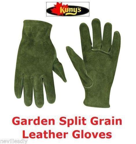 Ladies leather gardening gloves ebay for Gardening gloves ladies
