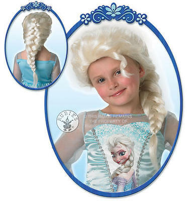 Elsa-Snow-Queen-Costume-Wig-Girls-Disney-Princess-Frozen-Childs-Kids-Fancy-Dress