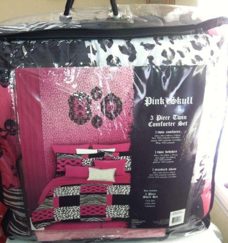 Pink Skull Bedding Ebay