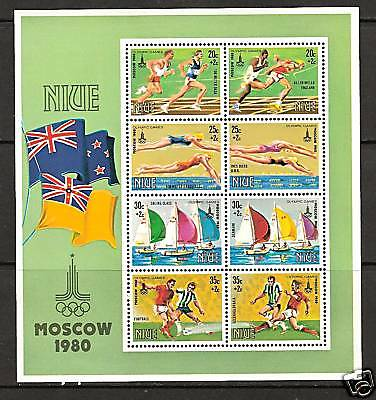 NIUE # B-42 MNH SUMMER OLYMPICS MOSCOW