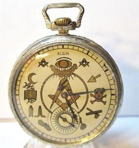 5ef04a293 Antique Masonic Pocket Watch