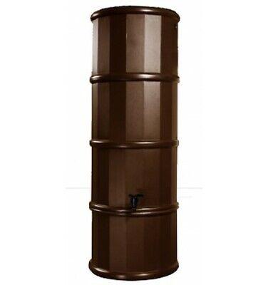 Slim 110 Litre Polybutt Oak Waterbutt in Brown