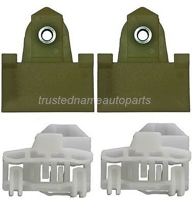 Door Window Sash Channel Guide Glass Retainer Clips Kit 4pcs Front Right