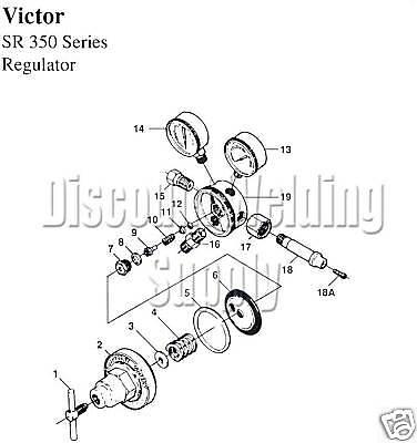 Diaphragm Only -victor Sr 350 360 Oxygen Acetylene Regulator Sr350 Sr360 V-874