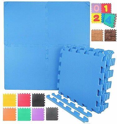 12 Styles EVA Foam Floor Mat Interlocking Exercise Gym Puzzle Tiles with Borders