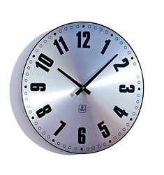 Cupecoy 14 Wall Clock w/Aluminum Dial in Brushed Finish & Dome Glass #32334